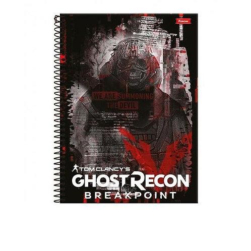 Caderno Universitário Games Ubisoft 15 Matérias 300 Folhas