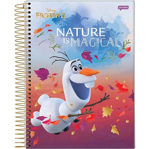 Caderno Universitário Frozen Capa Dura 10 Matérias 200 Folhas
