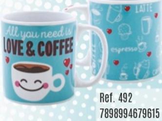 CANECA PORCELANA 320ML LOVE & COFFEE