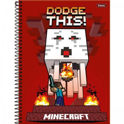 Caderno Universitário Minecraft 1 Matéria 96 Folhas