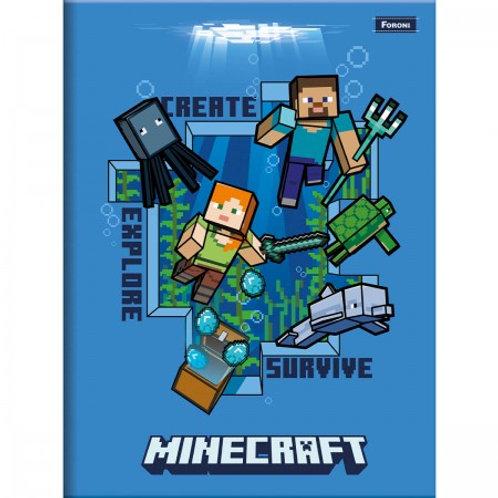 Caderno Brochura Minecraft 1/4 48 Folhas