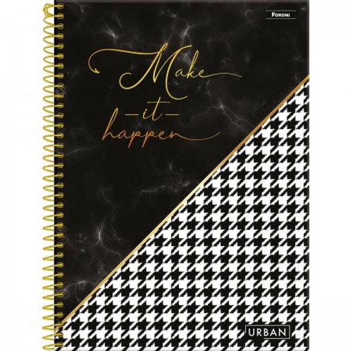 Caderno Universitário Urban 10 Matérias 160 Folhas