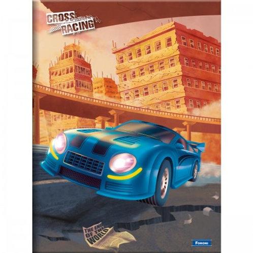 Caderno Brochura 1/4 Cross Racing 96 Folhas