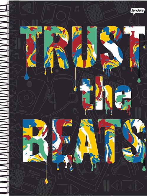 Caderno Universitário Soul Music 10 Matérias 160 Folhas Capa Dura
