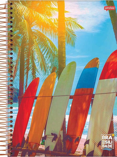 Caderno 1/4 Espiral 96 Folhas Brasilidades Capa Dura