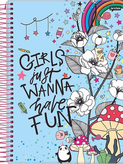 Caderno Universitário It Girl 15 Matérias 300 Folhas Capa Dura