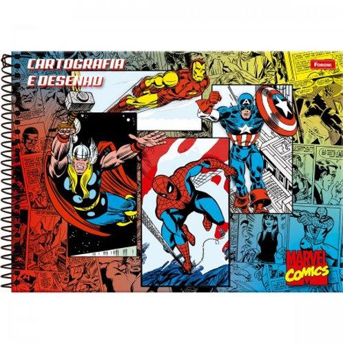 Cartografia Capa Dura Marvel Comics 80 Folhas