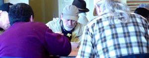 Seniors having a meal at PMSC