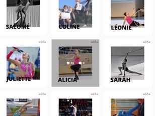 Portraits de gymnastes du Club