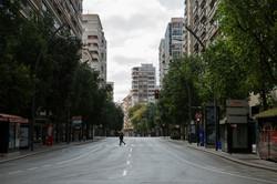 Gran Vía de Murcia desierta tras decreta