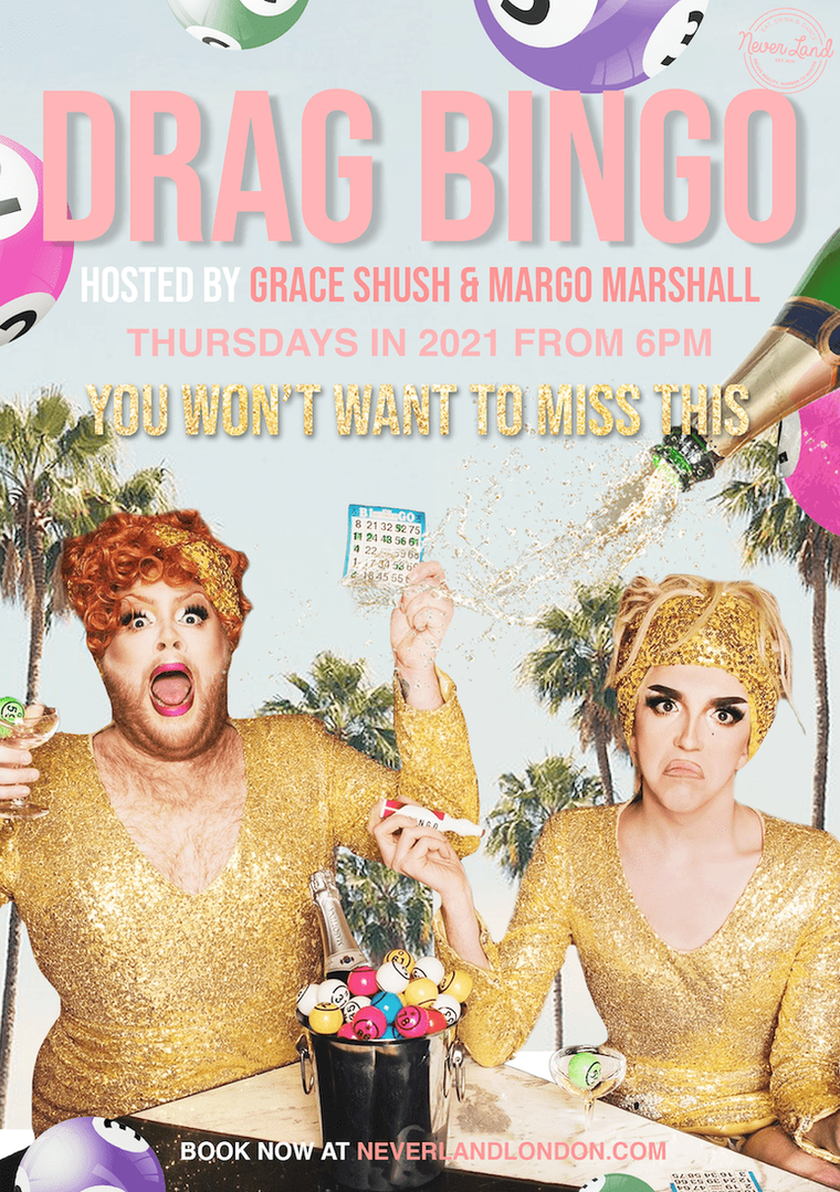 Drag Bingo at Neverland