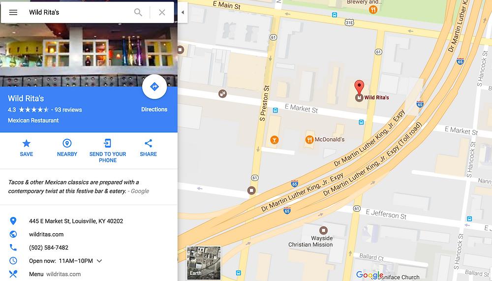 Wild Rita's is located in the NuLu area of Louisville.