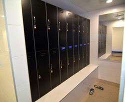 Showers and lockers