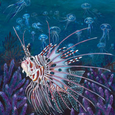 Lionfish with Acropora