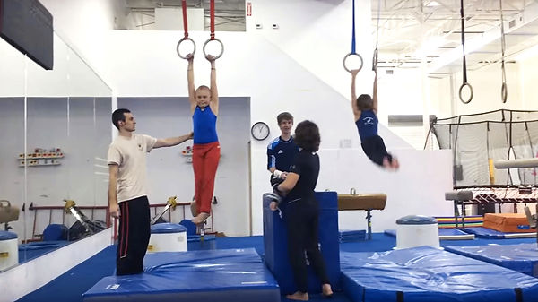 Boys on Rings with coach