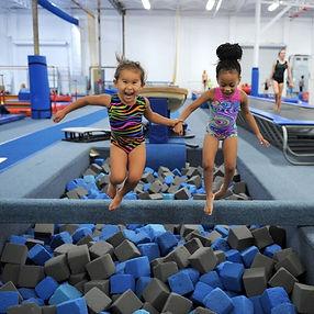 Preschoolers Jump into Foam Pit