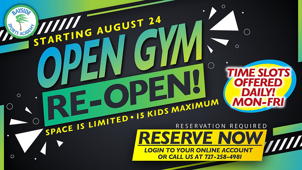 Open Gym is Re-Open