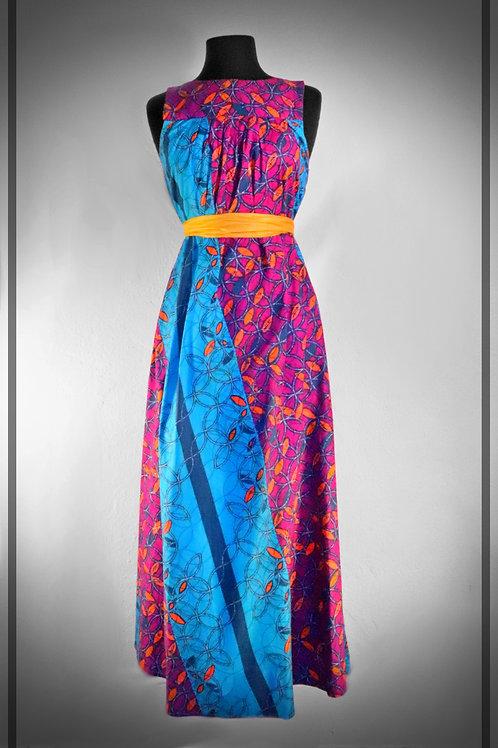 Long Purple & Blue Dress