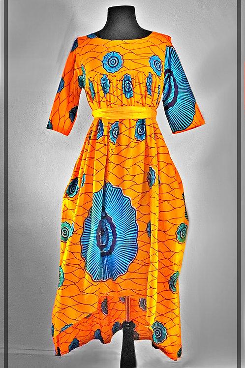 Orange & Blue Dress