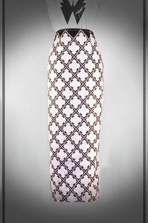 B&W Chess Pencil Skirt