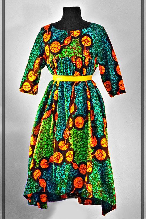 Green & Orange Dress
