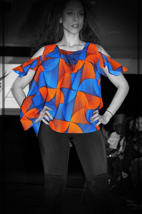 Orange & Blue Top