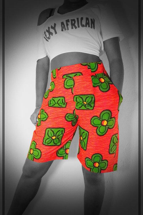 Orange Lucky Shorts