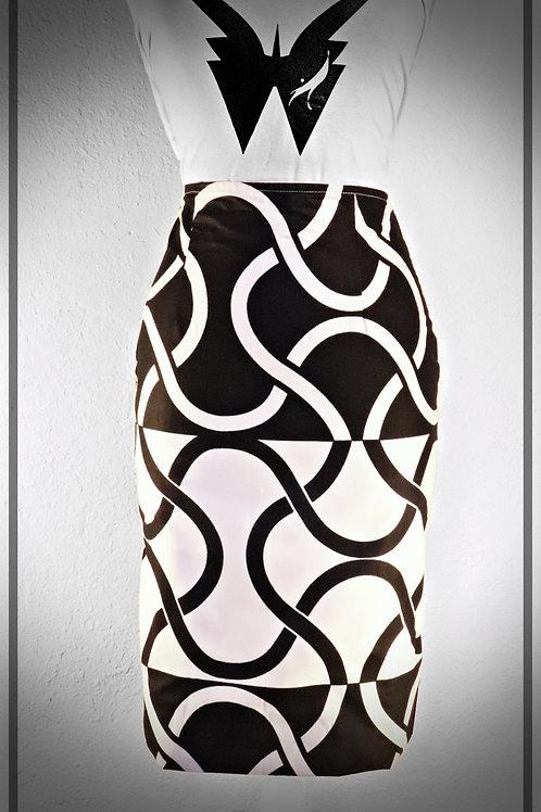 B&W Line Skirt