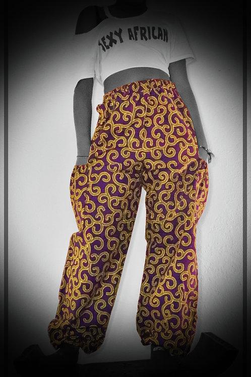 Yellow & Purple Pants
