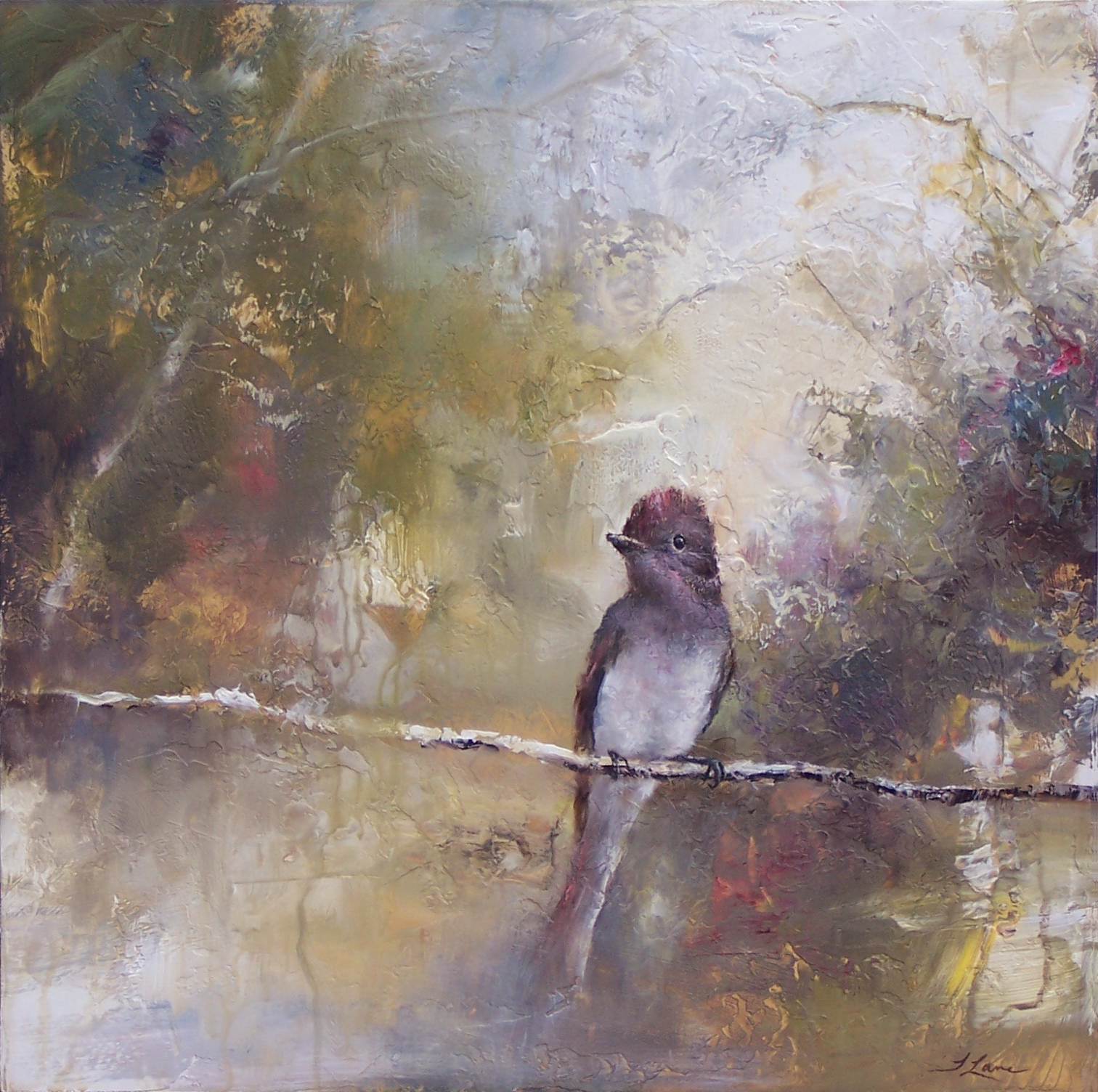"Flycatcher, 20"" x 20"""