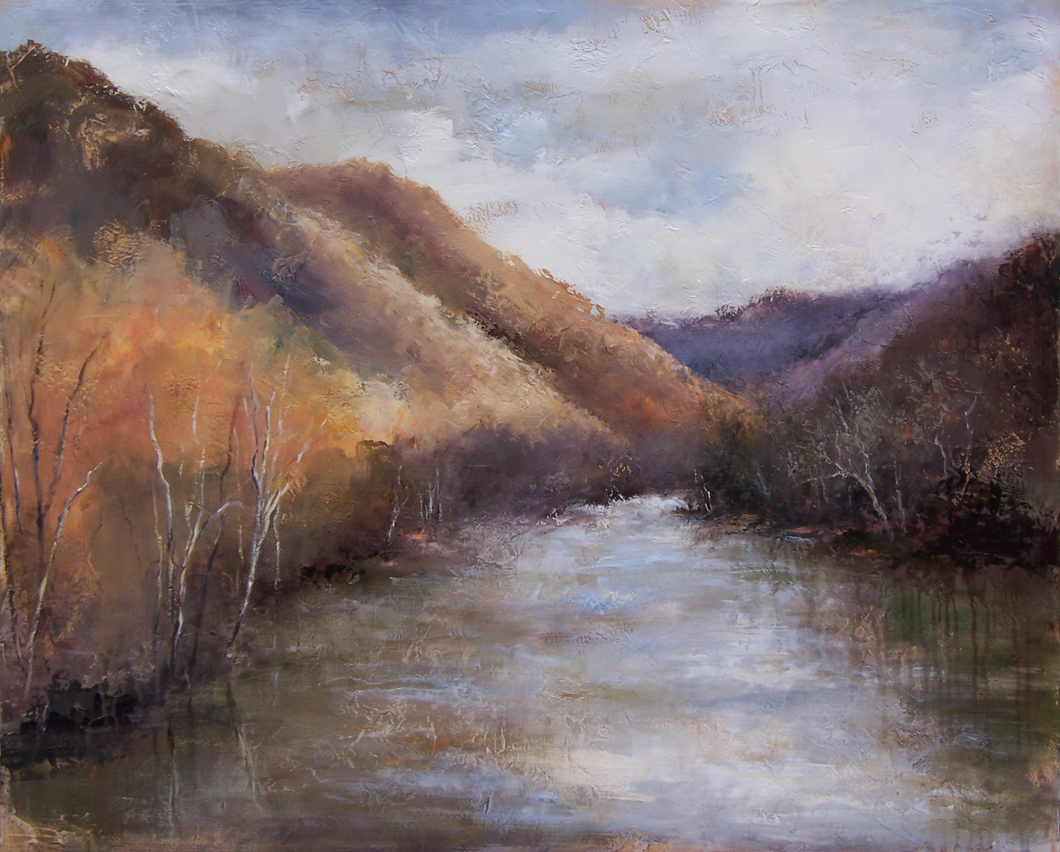 "Winter River, 40"" x 50"""