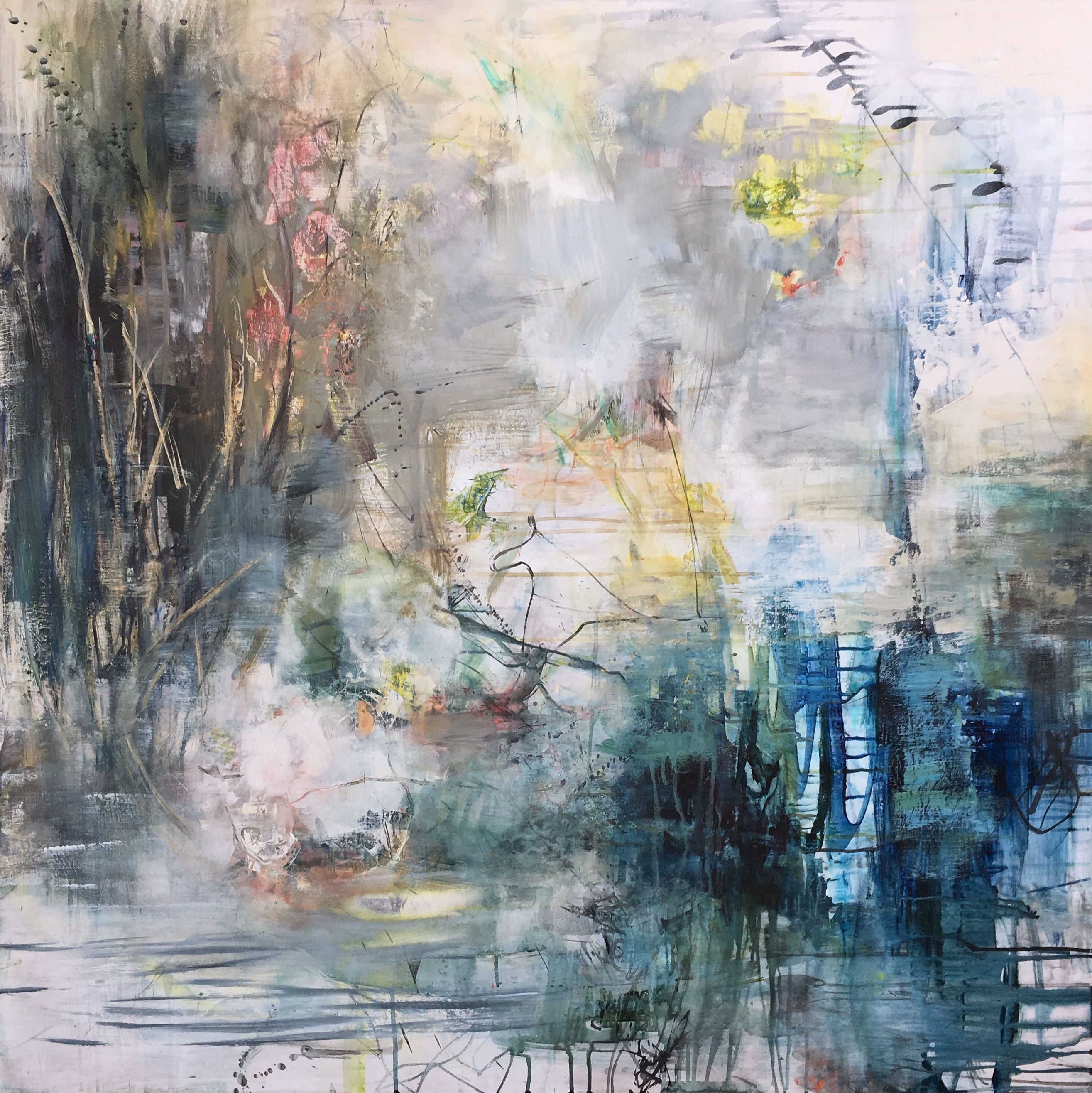 "Said the River..., 48"" x 48"""