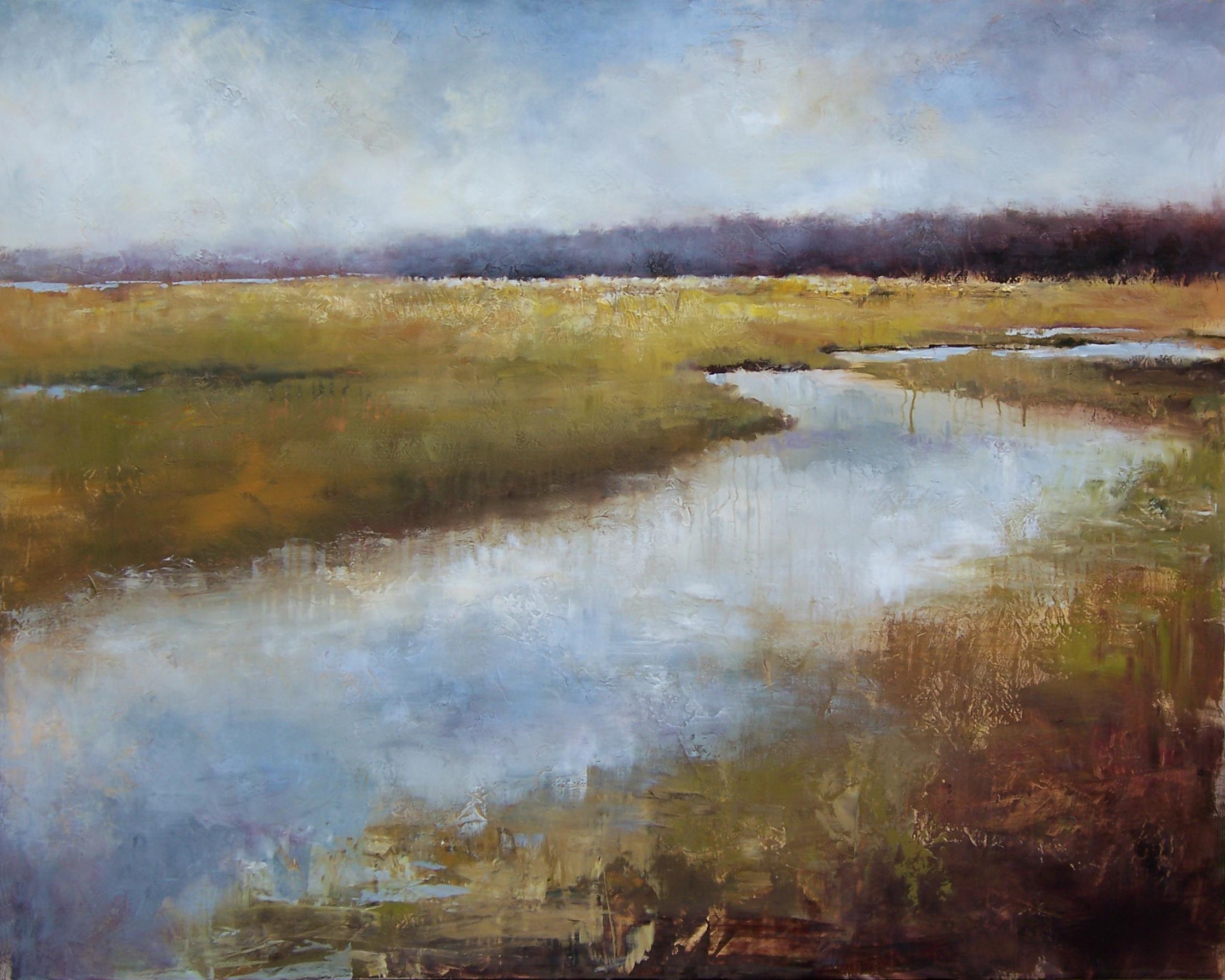 """Tidal Marsh, 40"""" x 50"""""""