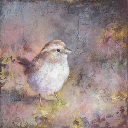 "Evie's Bird, 8"" x 8"""