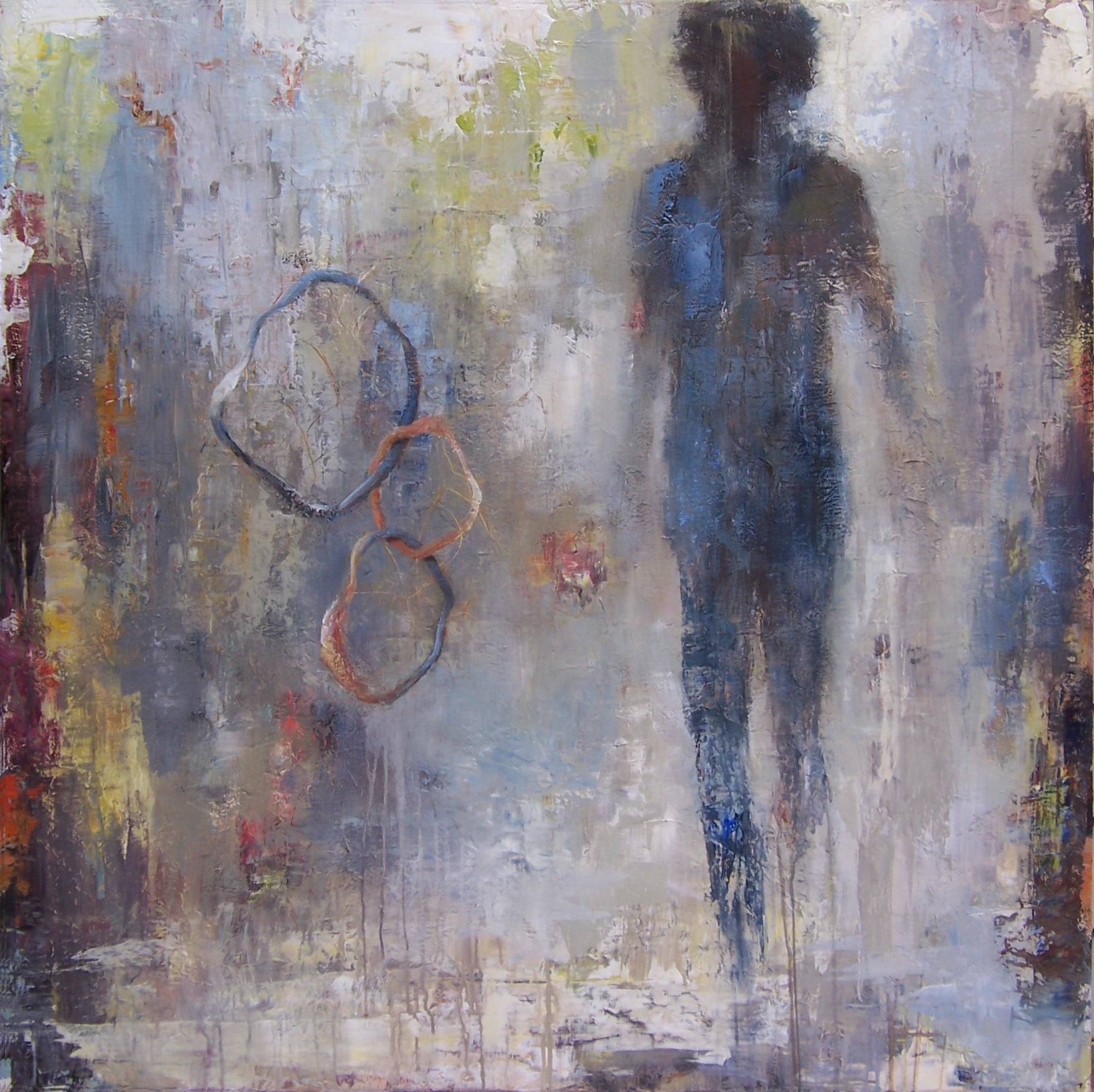 """Going For the Brass Ring, 45"""" x 45"""""""
