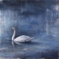 """Swan, 45"""" x 45"""""""
