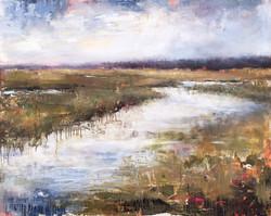 """Tidal Marsh II, 40"""" x 50"""""""
