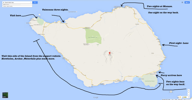 Savaii_Map