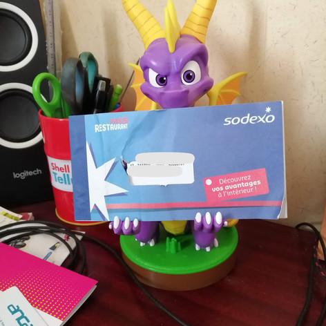 Spyro m'offre des tickets resto !