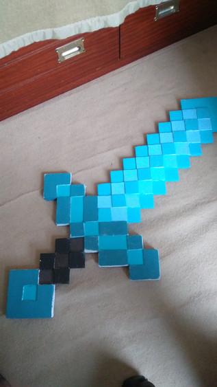Epée en diamant Minecraft