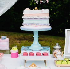 Princess and the pea party cake