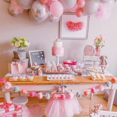Ballerina party decor pink girl birthday