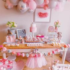 Ballerina party decor pink girl birthday