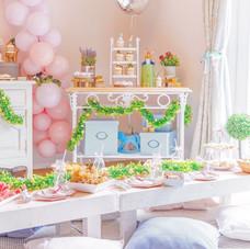 Peter Rabbitt party decor pastel girl boy
