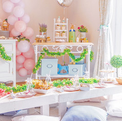 Peter Rabbitt party decor pastel girl boy