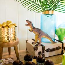 Dinosaur party detail