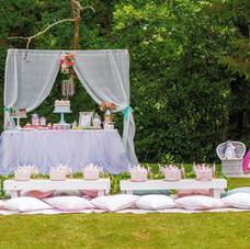 Kids luxe picnic table princess party garden