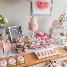 Ballerina party grey pink decor