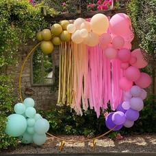 Luxury balloons arch loop tassels gold 11th birthday
