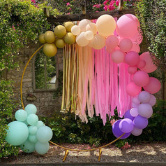 Luxury balloons arch loop tassels gold 11th birthday